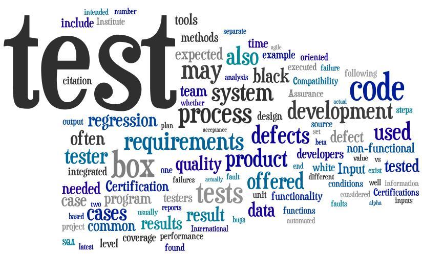 various software testing tools