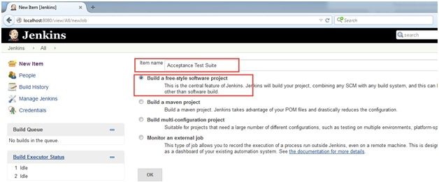 How to Create Jenkins job for a Ranorex Test suite