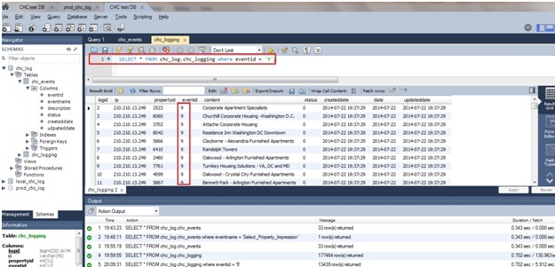 How to Check Log Event in Database