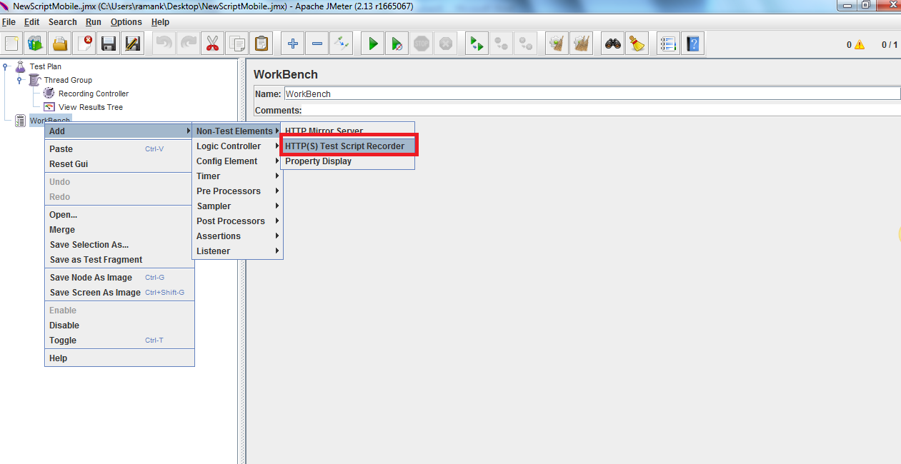 How to configure JMeter and Mobile Device to Record Scripts