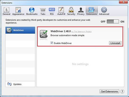 "Go to Safari>Preferences>Extensions and select the ""Enable WebDriver"" checkbox."