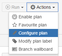 Configure plan option