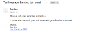 Bamboo Test Mail