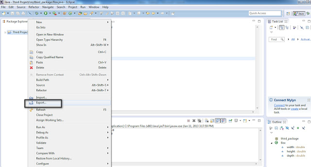 How to Use Eclipse IDE to Export Project Based on Java