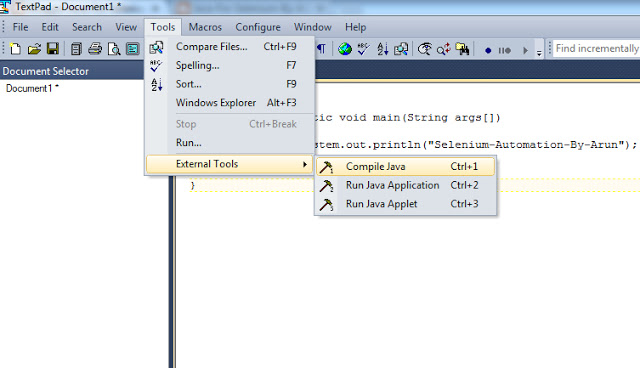 How to Use TextPad Tool to Write and Execute Java Programs